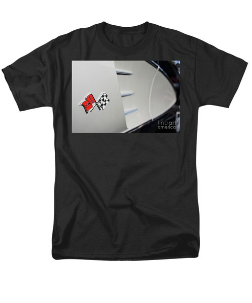 Men's T-Shirt  (Regular Fit) featuring the photograph 1960 Black And Grey Corvette Side Shot by Aloha Art