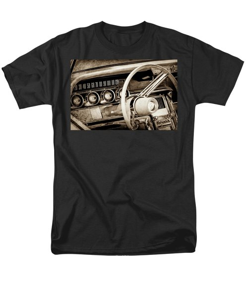 Men's T-Shirt  (Regular Fit) featuring the photograph 1964 Ford Thunderbird Steering Wheel -0280s by Jill Reger