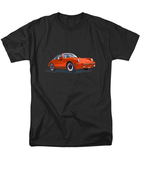 Men's T-Shirt  (Regular Fit) featuring the painting 1968 Porsche 911 Targa Tee by Jack Pumphrey
