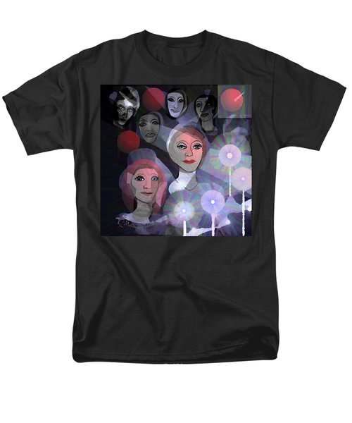 Men's T-Shirt  (Regular Fit) featuring the digital art 1970 - A Ceremony by Irmgard Schoendorf Welch