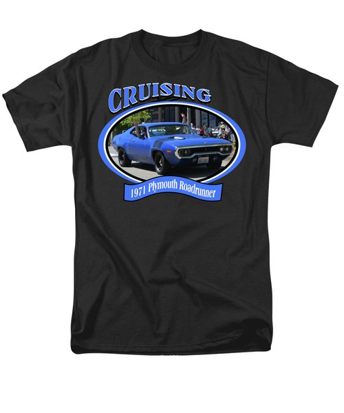 1971 Plymouth Roadrunner Hedman Men's T-Shirt  (Regular Fit) by Mobile Event Photo Car Show Photography