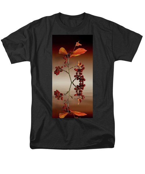 Men's T-Shirt  (Regular Fit) featuring the photograph Autumn Leafs And Red Berries by David French