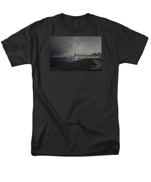 Men's T-Shirt  (Regular Fit) featuring the photograph Chicago Skyline At Night by Keith Kapple