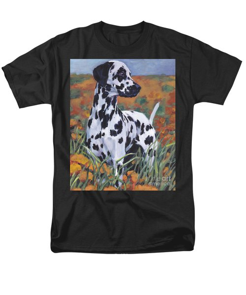 Men's T-Shirt  (Regular Fit) featuring the painting Dalmatian by Lee Ann Shepard