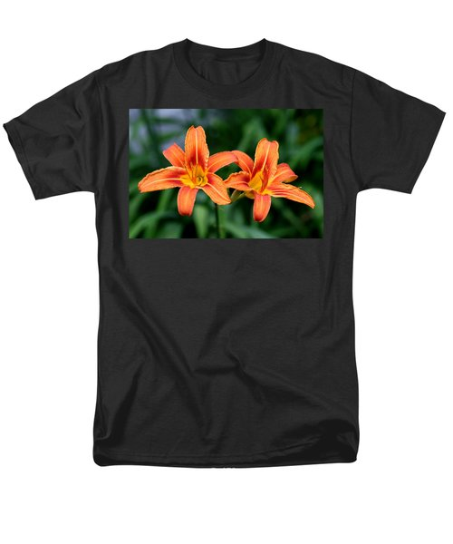 2 Flowers In Side By Side Men's T-Shirt  (Regular Fit) by Paul SEQUENCE Ferguson             sequence dot net