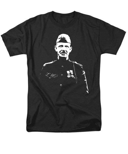 Men's T-Shirt  (Regular Fit) featuring the mixed media Sergeant Alvin York by War Is Hell Store