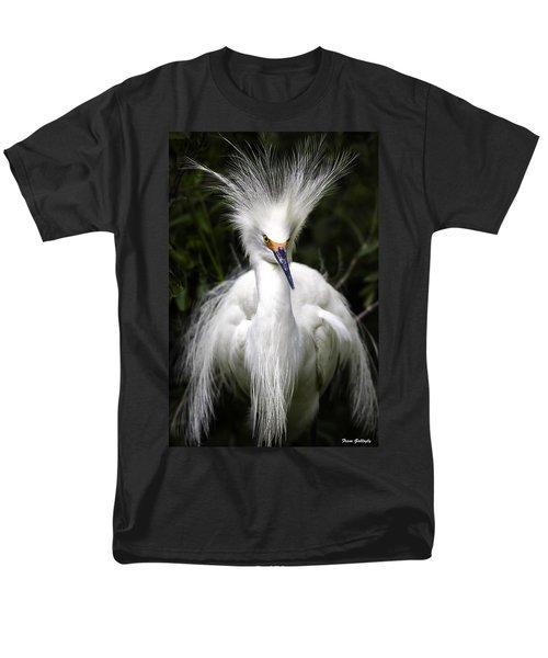 Snowy Egret Men's T-Shirt  (Regular Fit) by Fran Gallogly