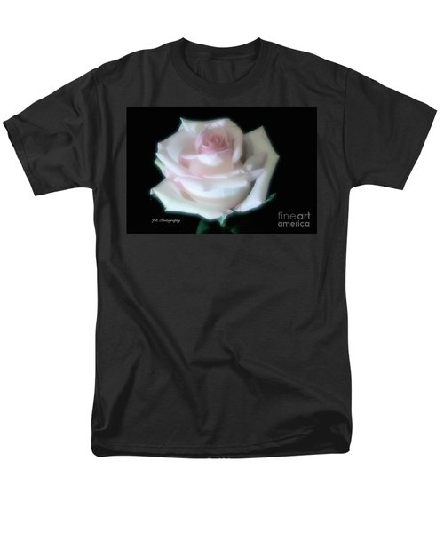 Soft Pink Rose Bud Men's T-Shirt  (Regular Fit) by Jeannie Rhode