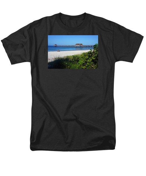 The Historic Naples Pier Men's T-Shirt  (Regular Fit) by Robb Stan