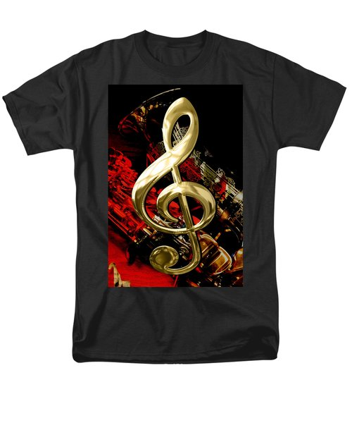 Saxophone Collection Men's T-Shirt  (Regular Fit) by Marvin Blaine