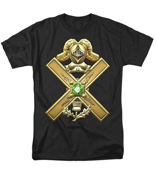 29th Degree Mason - Scottish Knight Of Saint Andrew Masonic Jewel  Men's T-Shirt  (Regular Fit) by Serge Averbukh
