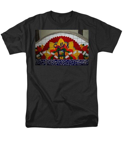 Calle Ocho Cuban Festival Miami Men's T-Shirt  (Regular Fit) by Carol Ailles