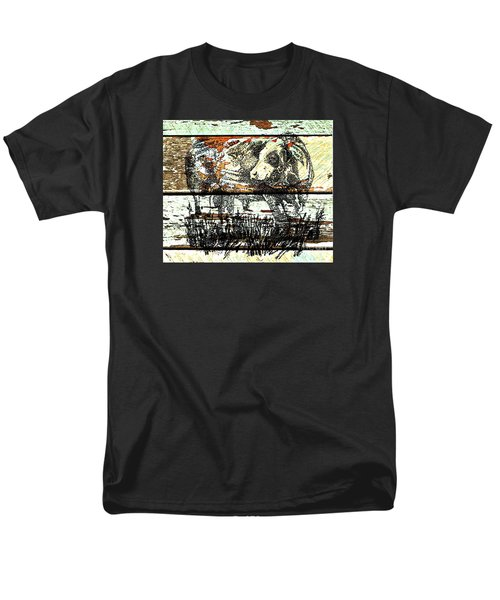 Men's T-Shirt  (Regular Fit) featuring the drawing Simmental Bull by Larry Campbell
