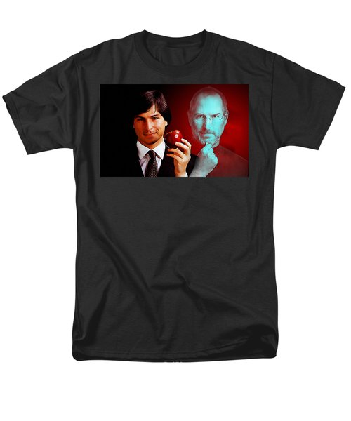 Men's T-Shirt  (Regular Fit) featuring the mixed media Steve Jobs by Marvin Blaine
