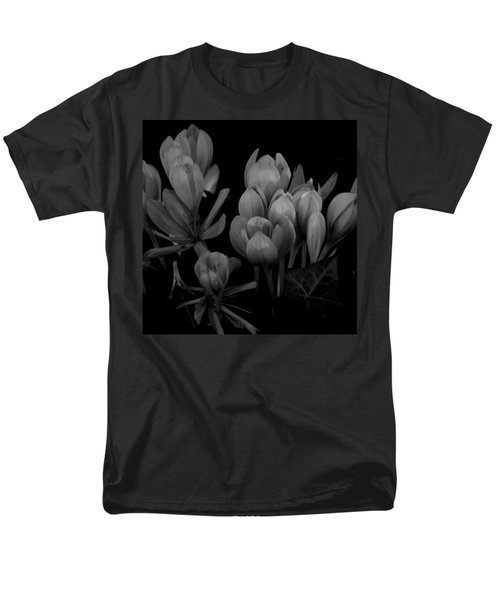 Black And White Flower  Men's T-Shirt  (Regular Fit) by Kevin Blackburn