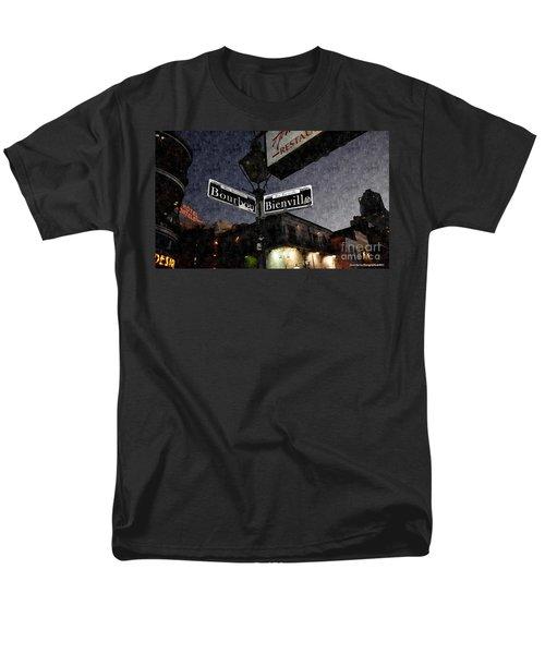 Bourbon Street Men's T-Shirt  (Regular Fit) by Janice Spivey
