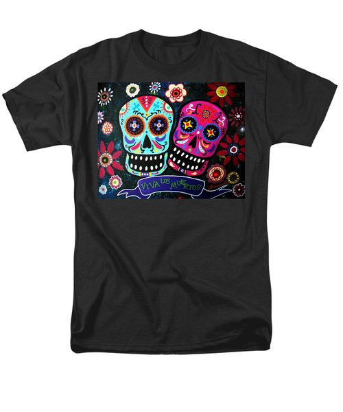 Couple Day Of The Dead Men's T-Shirt  (Regular Fit)