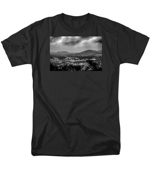 Roanoke City As Seen From Mill Mountain Star At Dusk In Virginia Men's T-Shirt  (Regular Fit) by Alex Grichenko