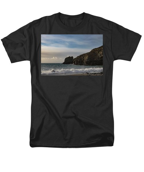 Men's T-Shirt  (Regular Fit) featuring the photograph Trevellas Cove Cornwall by Brian Roscorla