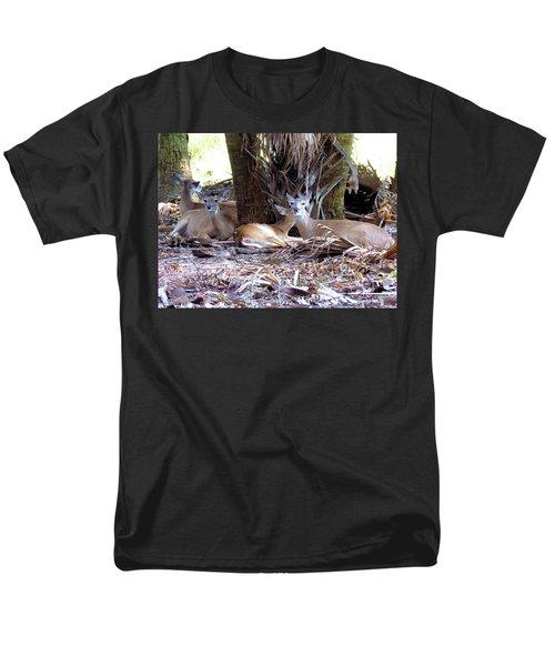 4 Wild Deer Men's T-Shirt  (Regular Fit) by Rosalie Scanlon