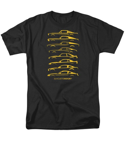 Ford Mustang Silhouettehistory Men's T-Shirt  (Regular Fit)