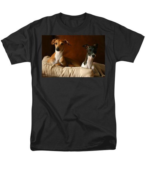 Italian Greyhounds Men's T-Shirt  (Regular Fit) by Angela Rath