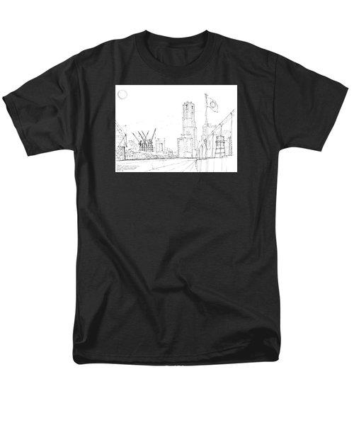 5.2.japan-1-tokyo-skyline Men's T-Shirt  (Regular Fit) by Charlie Szoradi