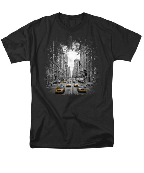 5th Avenue Nyc Traffic II Men's T-Shirt  (Regular Fit) by Melanie Viola