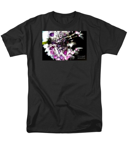 Crystal Flower Men's T-Shirt  (Regular Fit) by Sylvie Leandre