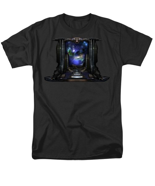89-123-a9p2 Arsairian 7 Reporting Fractal Composition Men's T-Shirt  (Regular Fit) by Xzendor7
