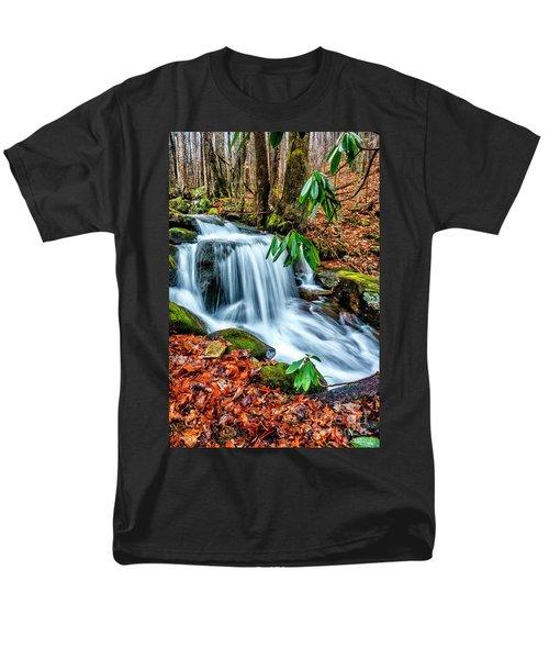 Men's T-Shirt  (Regular Fit) featuring the photograph Little Laurel Branch by Thomas R Fletcher