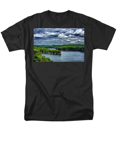 Long Point Summersville Lake Men's T-Shirt  (Regular Fit) by Thomas R Fletcher