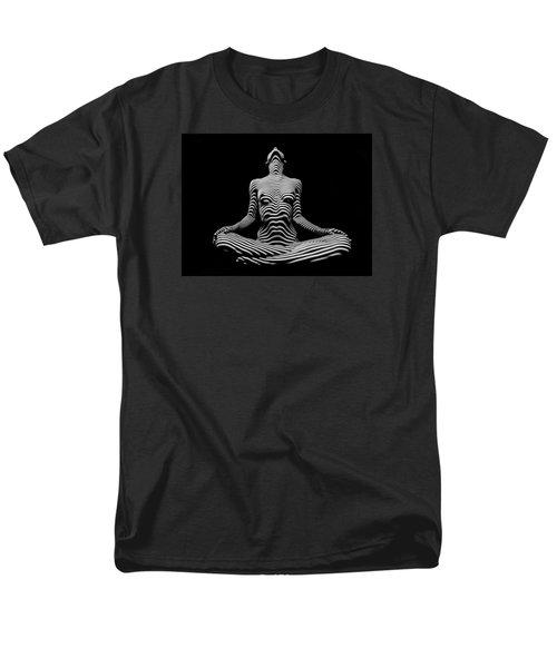 9934-dja Lotus Position In Zebra Stripes  Men's T-Shirt  (Regular Fit)