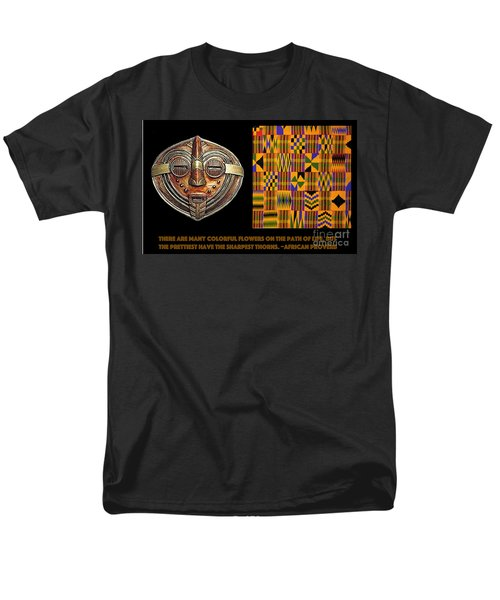 A  African Proverb Men's T-Shirt  (Regular Fit) by Jacqueline Lloyd