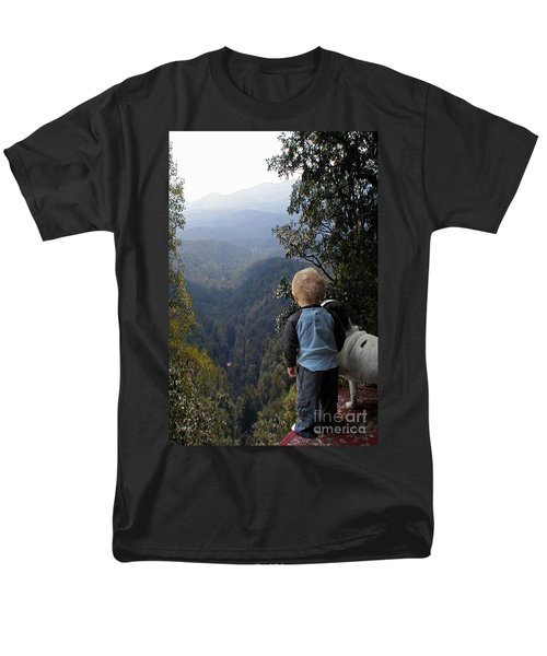 A Boy And His Dog Men's T-Shirt  (Regular Fit) by Robert Meanor