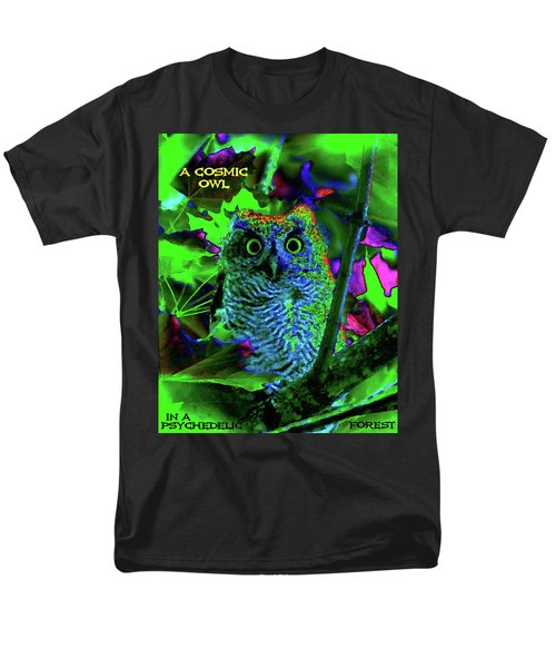 A Cosmic Owl In A Psychedelic Forest Men's T-Shirt  (Regular Fit) by Ben Upham III