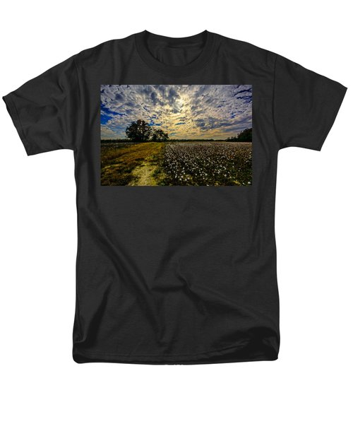 Men's T-Shirt  (Regular Fit) featuring the photograph A Cotton Field In November by John Harding
