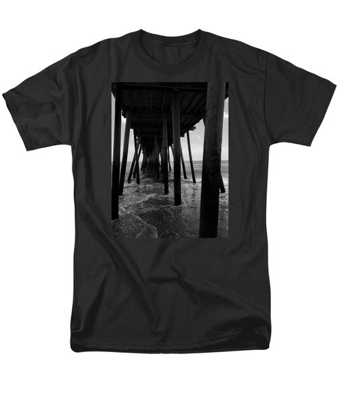 Men's T-Shirt  (Regular Fit) featuring the pyrography A Day At Virginia Beach #2 by Rebecca Davis