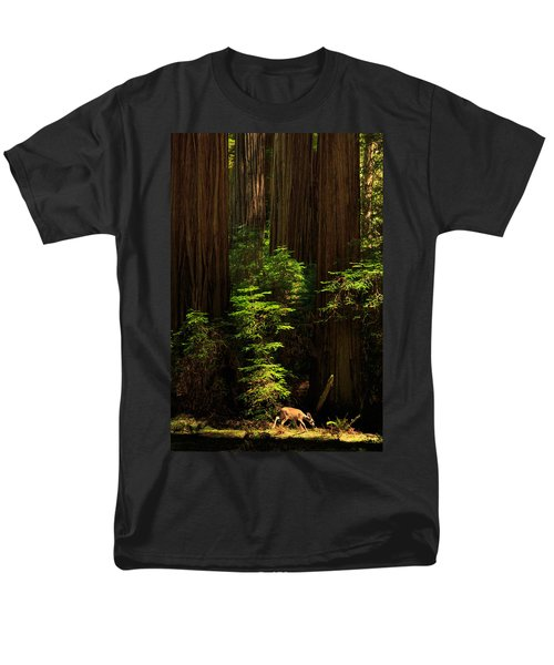 A Deer In The Redwoods Men's T-Shirt  (Regular Fit) by James Eddy