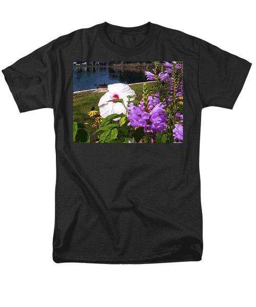 A Flower Blossoms Men's T-Shirt  (Regular Fit) by B Wayne Mullins