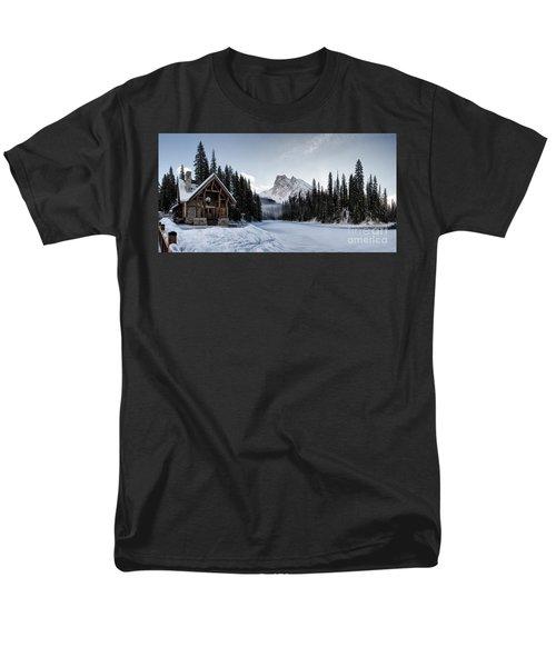 A Frozen Emerald Lake Morning Men's T-Shirt  (Regular Fit) by Brad Allen Fine Art