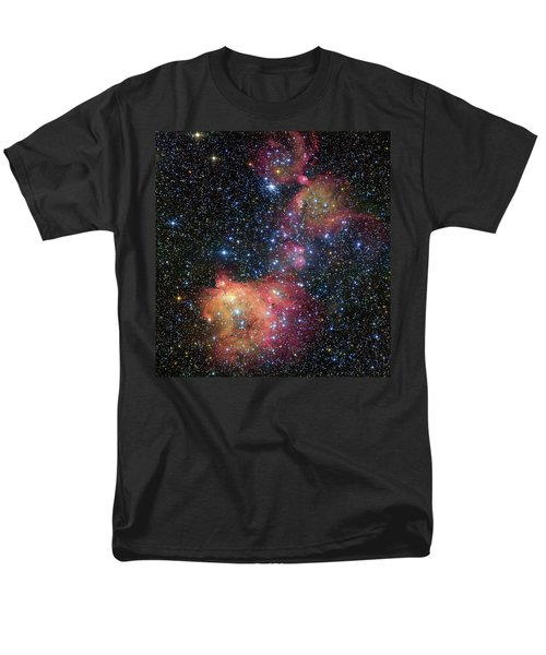 Men's T-Shirt  (Regular Fit) featuring the photograph A Glowing Gas Cloud In The Large Magellanic Cloud by Eso