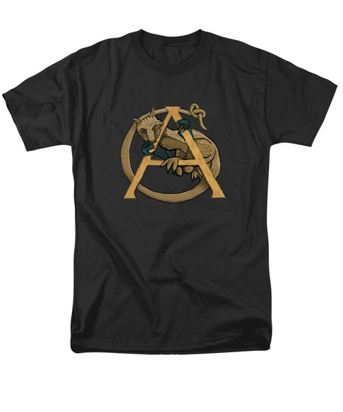A Is For Alphyn Men's T-Shirt  (Regular Fit) by Donna Huntriss