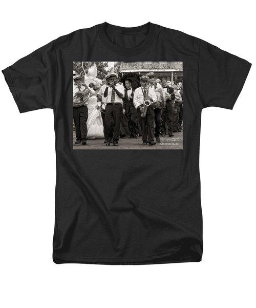 A Jazz Wedding In New Orleans Men's T-Shirt  (Regular Fit) by Kathleen K Parker