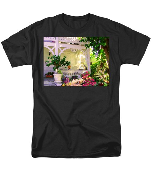 Men's T-Shirt  (Regular Fit) featuring the painting A Key West Porch by David  Van Hulst