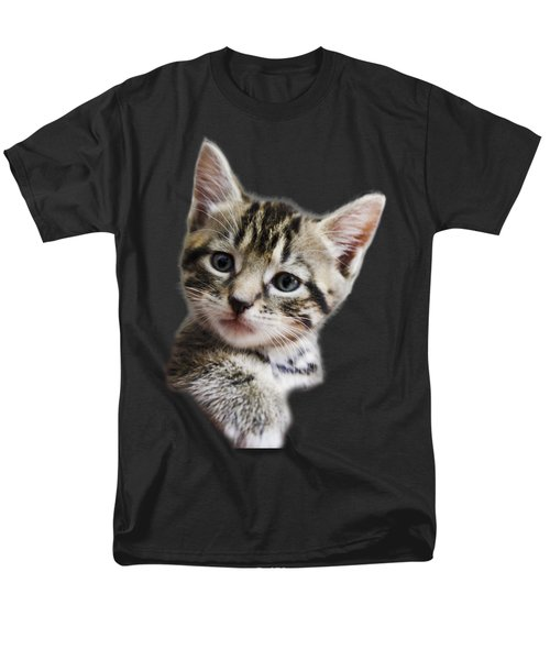 A Kittens Helping Hand On A Transparent Background Men's T-Shirt  (Regular Fit) by Terri Waters