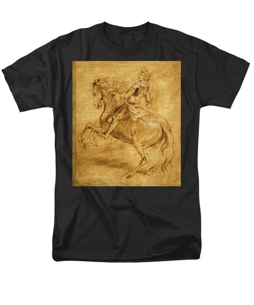 Men's T-Shirt  (Regular Fit) featuring the painting A Man Riding A Horse by Anthony van Dyck