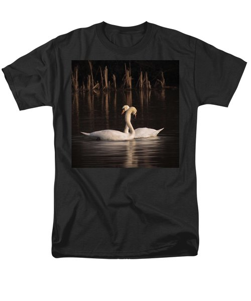 A Painting Of A Pair Of Mute Swans Men's T-Shirt  (Regular Fit) by John Edwards