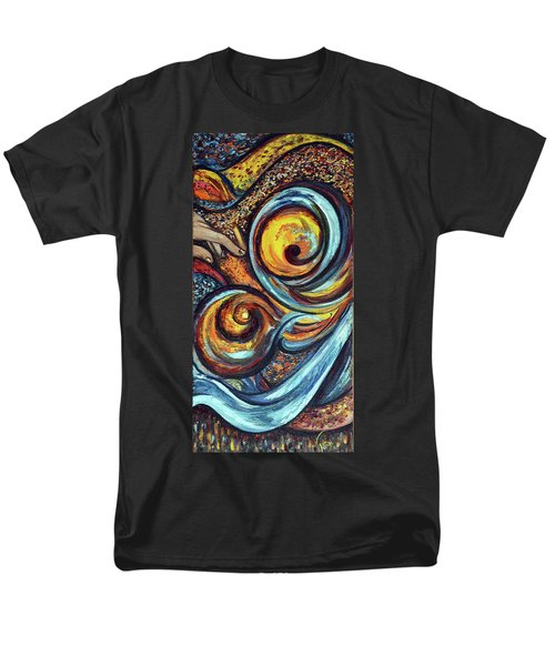 Men's T-Shirt  (Regular Fit) featuring the painting A Ray Of Hope by Harsh Malik
