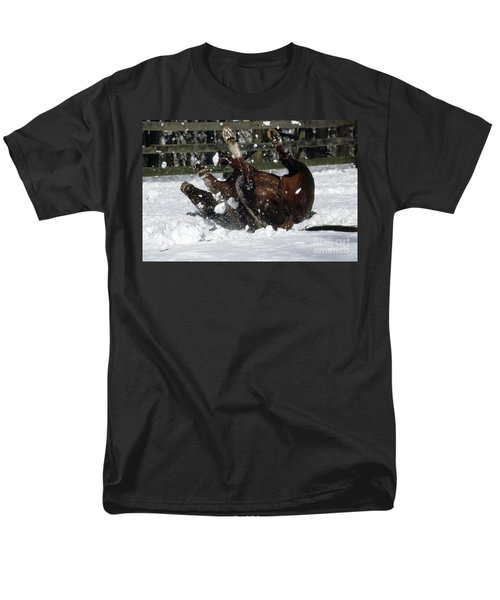 A Roll In The Snow Men's T-Shirt  (Regular Fit) by Nicki McManus